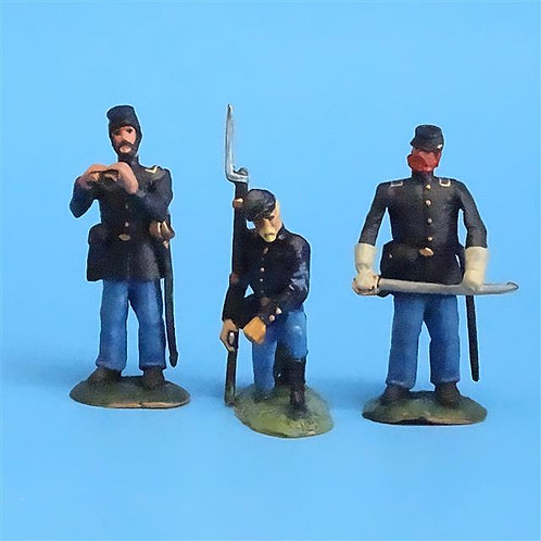 CORD-030 - Union Officers and NCO (3 Figs)  - ACW - LeMans - 54mm Metal - No Box
