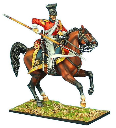 "NAP423 - 2nd Dutch ""Red"" Lancers of the Imperial Guard Trooper with Lance #2"