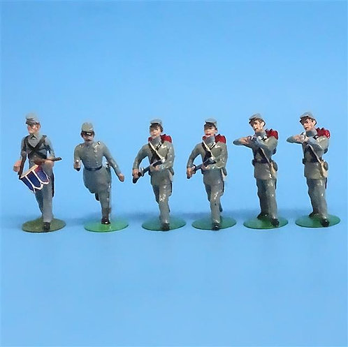 CORD-0738 -Confederate Infantry (6 Figures) - ACW - Alymer - 54mm Metal - No Box