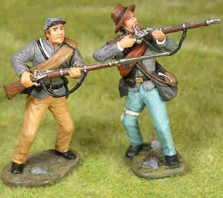 MTT-AL05 - 2 Troopers 15th Alabama Regiment Advancing #1