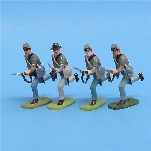 CORD-0624 Confederates Charging (4 Figures) - ACW - Unknown Manufacturer - 54mm