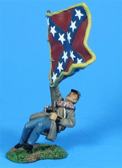 MI-088 - William Britain Confederate Flag Bearer Fallen