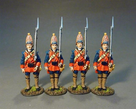 RRBNJ-08N - New Jersey Provincial Regiment, Grenadiers at Attention Set