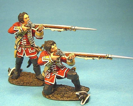 QB-21 28th Regiment of Foot 2 British Line Infantry Firing, Bare Heads (RETIRED)