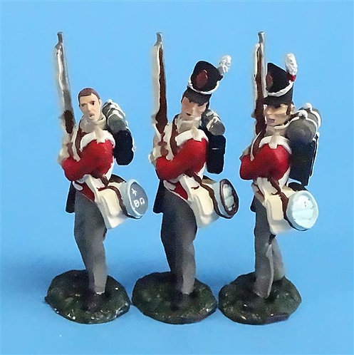 CORD-N0138 - British Infantry - Port Arms (3 Pieces) - All the King's Men - 54mm