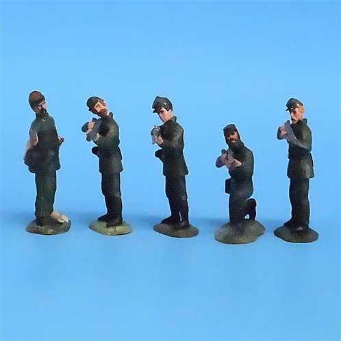 CORD-051 - Berdan's Sharpshooters Firing (5 Figs) - LeMans - 54mm Metal - No Box