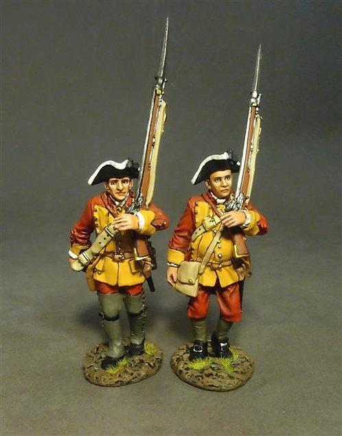 RRBC-06 - Connecticut Provincial Regt. of Foot, 2 Line Infantry Marching (2 pcs)