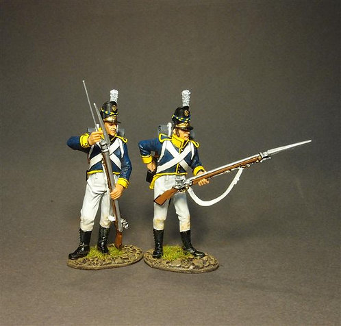 PORT-10W  2 Line Infantry Loading - White Trousers 21st Portuguese Line Inf Regt