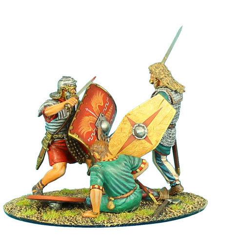 ROM025 - German Warrior Charging Imperial Roman Vignette