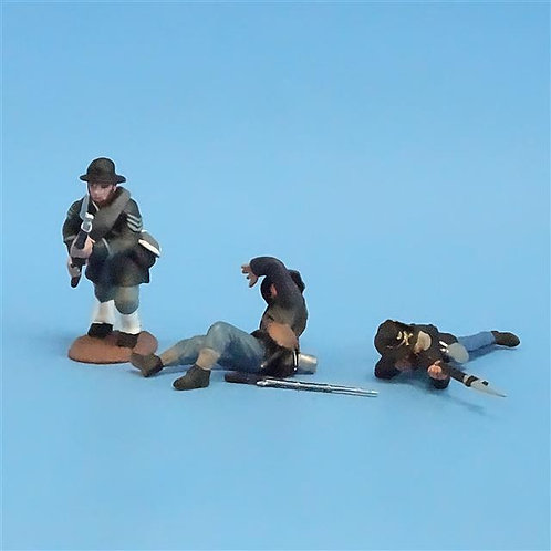 CORD-210 - Iron Brigade (3 Figures) - ACW - CM and Unknown - 54mm Metal - No Box