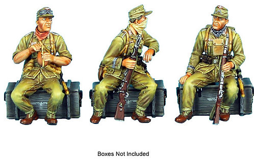 DAK014 - Seated DAK Infantry Passengers with Field Caps