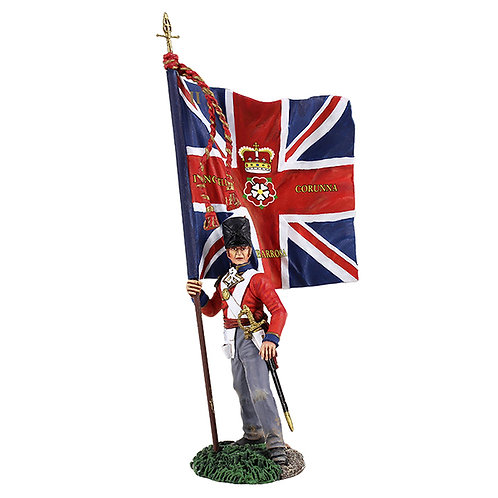 36142 - British 1st Foot Guard Ensign with Regimental Colour No.1