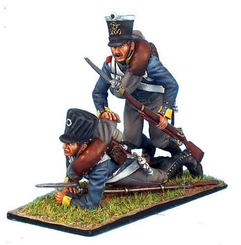 NAP162 - Prussian 11th Line Infantry Regiment Musketeers Falling Vignette