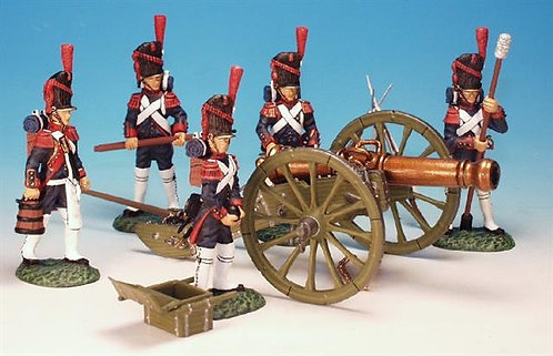 FAG.2 - 12 lb Cannon, with 5 Man Crew, Foot Artillery of the Guard