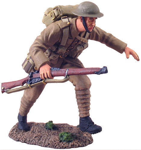 23016 - 1916 British Infantry Advancing at the Trail No.1