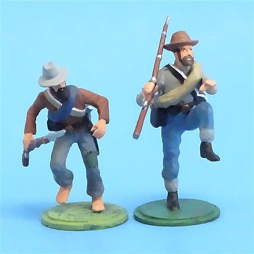 CORD-0792 - Confederates Running (2 Figures) - ACW - Unknown Manufacturer - 54mm