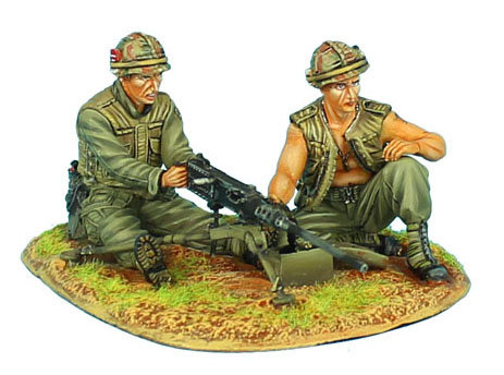 VN018 - US 25th Infantry Division Browning M2 MG Team