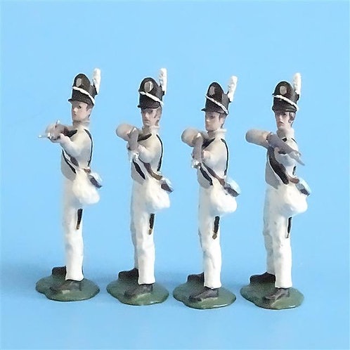 CORD-A0136 - Scotts Brigade Firing (4 Pieces) - All the King's Men - 54mm Metal