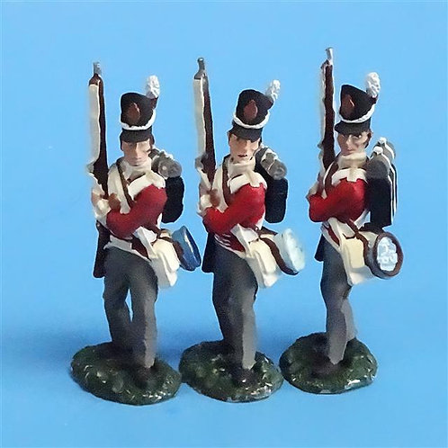 CORD-N0132 - British Infantry - Port Arms (3 Pieces) - All the King's Men  54mm