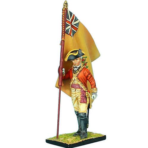 AWI042 - British 22nd Foot Standard Bearer - Regimental Colors