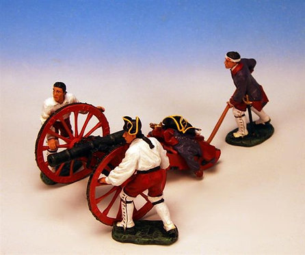FGG.2 - 4 lb Cannon, with 3 Crew Moving Cannon, French Artillery