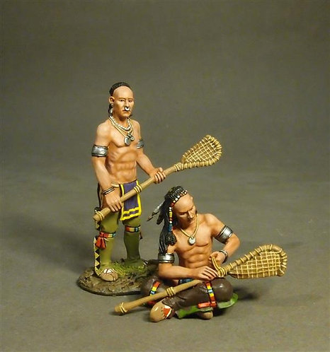 WIM-10 - Woodland Indian Lacrosse Players Prepare