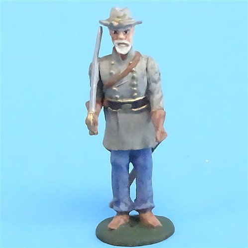 CORD-0888 - Confederate Officer at Attention - ACW - Unknown Manufacturer - 54mm