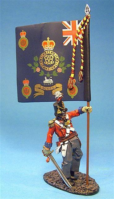 BCH-09 - 1st Royal Scots Officer with Regimental Colours (2pcs)