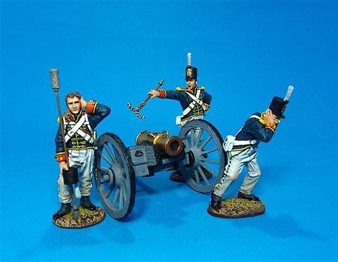 PBART-01 - Artillery Crew Firing  British Foot Artillery, Pre-1813