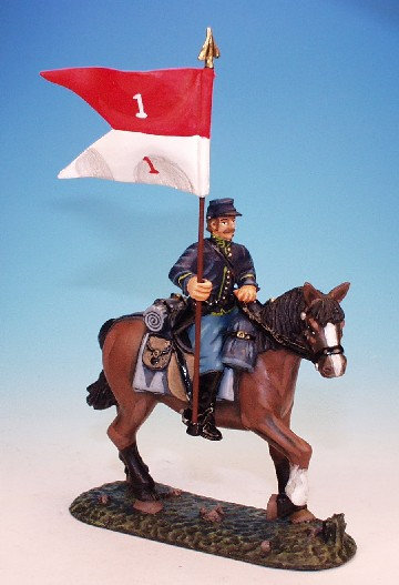 DC.5 - Guidon Bearer, Mounted on Standing Horse, Dismounted Cavalry