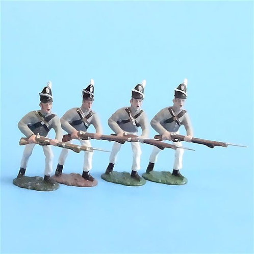 CORD-A0155 - Scotts Brigade Advancing (4 pcs) - War of 1812 - All the King's Men