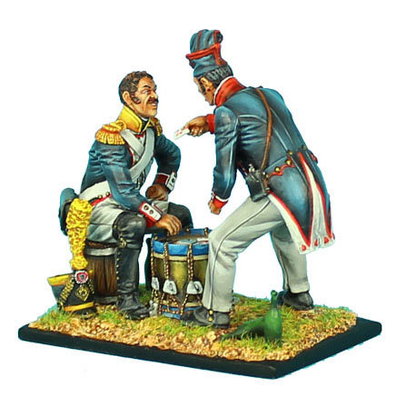 NAP410 - Voltigeur and Fusilier Playing Cards on a Drum
