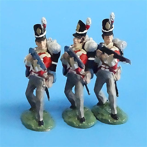 CORD-N0167 - British Infantry - Standing Firing (3 Pieces) - All the King's Men