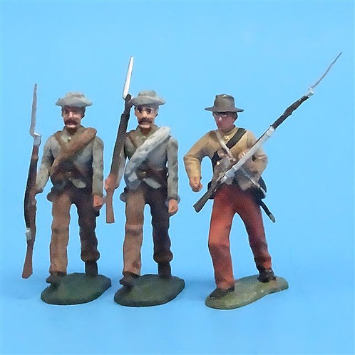 CORD-0789 Confederates Marching (3 Figures) - ACW - Unknown Manufacturer - 54mm