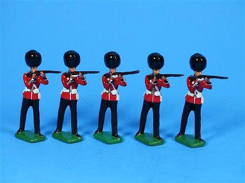 MI-067 - 5 British Grenadiers Standing Firing - Manufacturer Unknown
