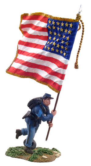 31046 - Union Infantry Color Sergeant with Flag Charging No.1