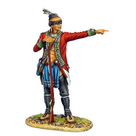 AWI097 - Woodland Indian in Captured British Coat