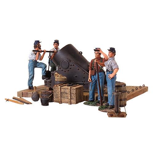 31134 - American Civil War 13 Inch Mortar and 4 Man Crew