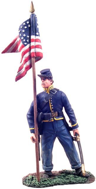 31071 - Union Cavalry Guidon Bearer Dismounted No.1