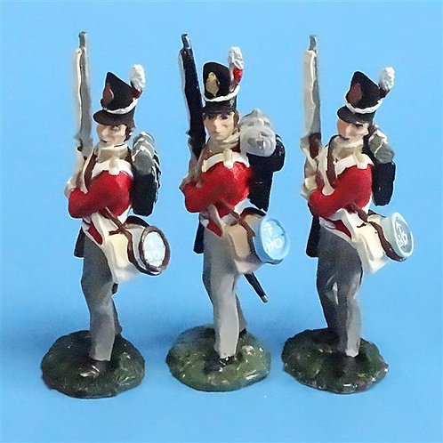 CORD-N0165 - British Infantry - Port Arms (3 Pieces) - All the King's Men  54mm