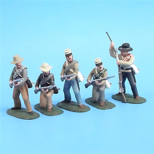 CORD-0576 - Confederate Firing Line (5 Figures) - ACW - Soldiers of the World