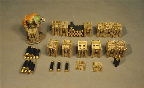 GWB-48 - Artillery Crew and Accessories (16 pcs)  The Royal Garrison Artillery
