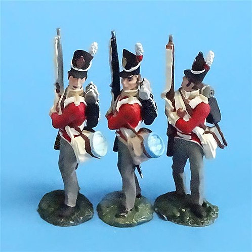 CORD-N0152 - British Infantry - Port Arms (3 Pieces) - All the King's Men  54mm