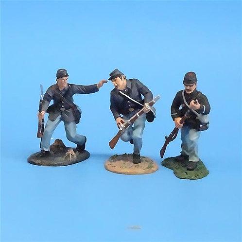 CORD-020 - Union Firing Line (3 Figures) - ACW - Britians - 54mm Metal - No Box