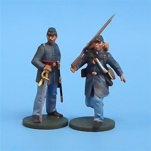 CORD-017 -Union Officer and Trooper (2 Figs) - ACW - Oryon - 54mm Metal - No Box