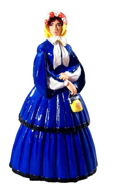 """60006 - """"Clara"""" in Afternoon Dress with Pagoda Sleeves, 1858-1864"""