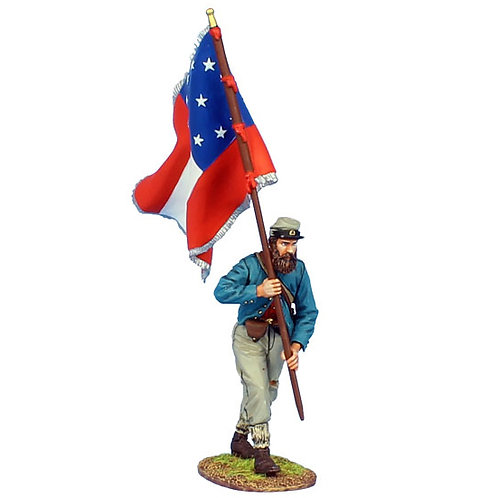 MB018 - Confederate Standard Bearer - 2nd Maryland State Flag