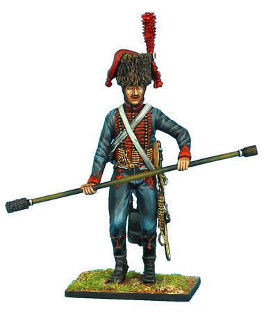 NAP403 - French Guard Horse Artillery Gunner with Rammer/Sponge