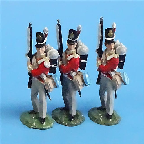 CORD-N0135 - British Infantry - Port Arms (3 Pieces) - All the King's Men - 54mm