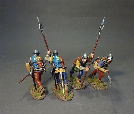 RYORK-09N - Yorkist Billmen (4 figures)  The Retinue of King Richard III